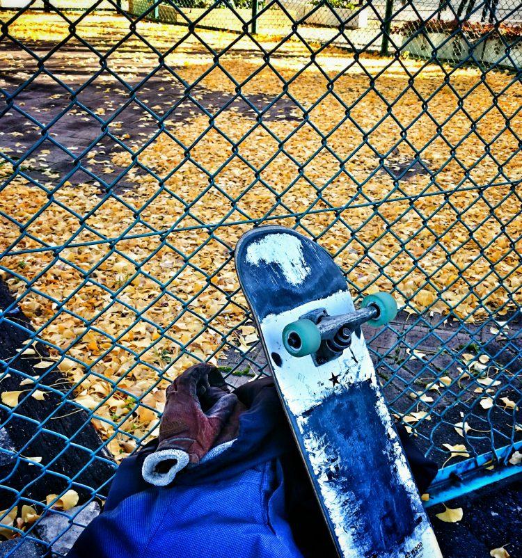若宮スケートパーク 落ち葉多い