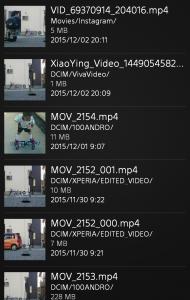 動画選択画面