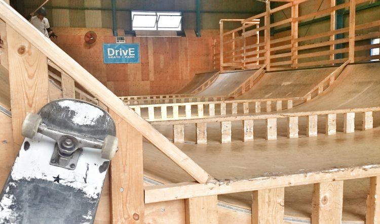 DrivEスケートパークのミニランプ