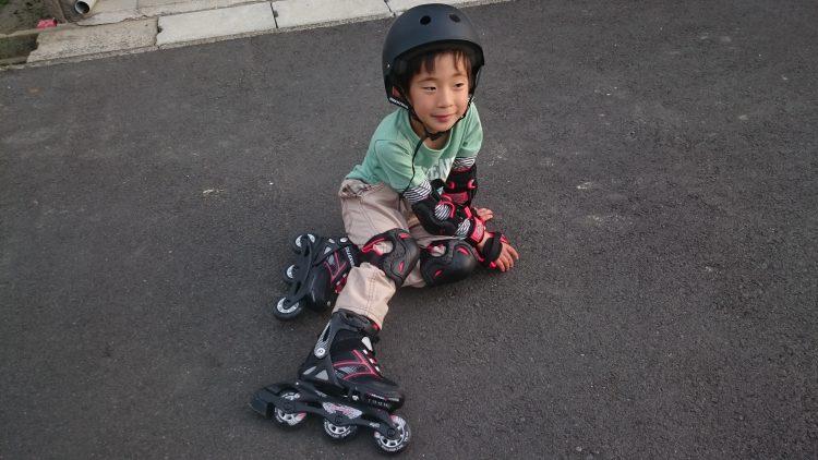 インラインスケートで疲れたじょにー